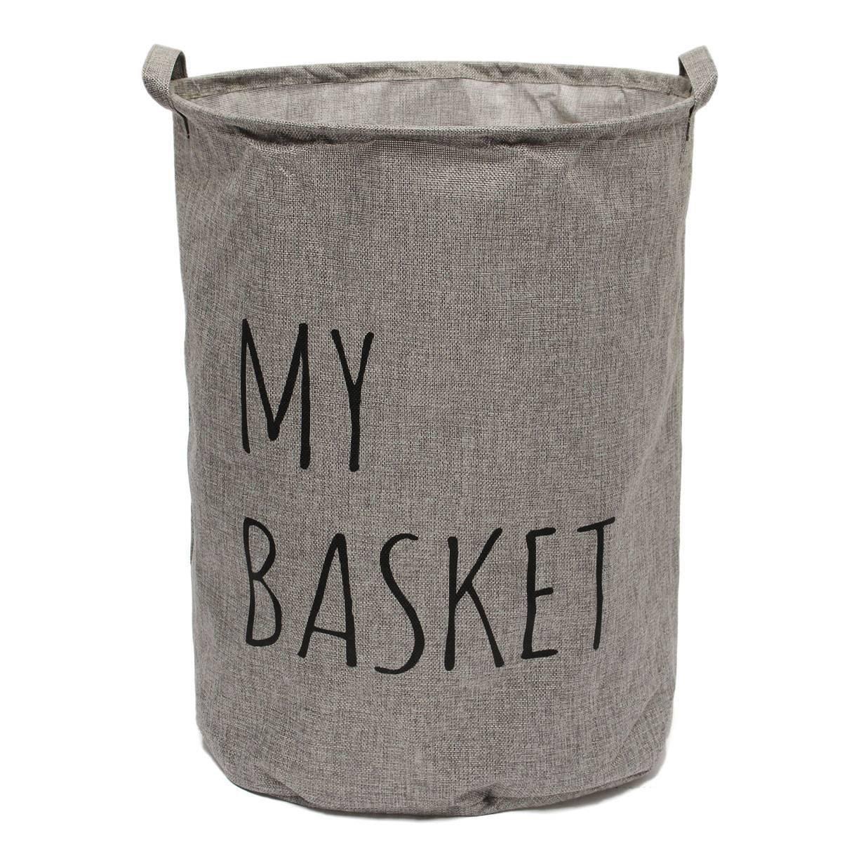 ランドリーバスケット グレー