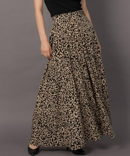 Aunt Marie's レオパードロングスカート