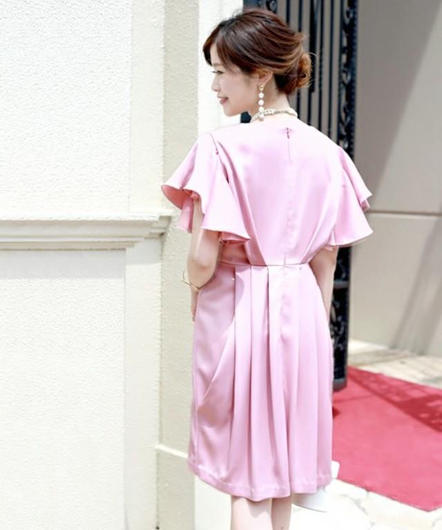 フレアスリット袖ドレス