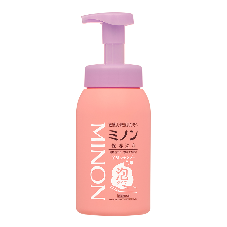 ミノン全身シャンプー 泡タイプ(医薬部外品 *皮膚の清浄・肌あれを防ぐ)