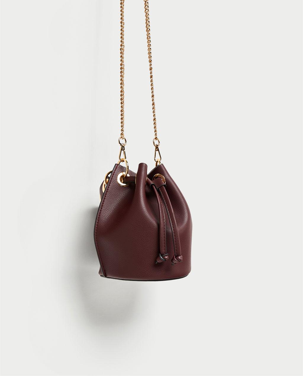 アイレット付き巾着型ミニバッグ