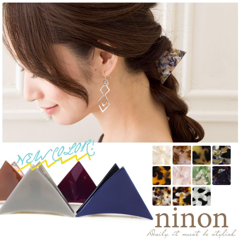 (ニノン) ninon 三角クリップ ヘアクリップ