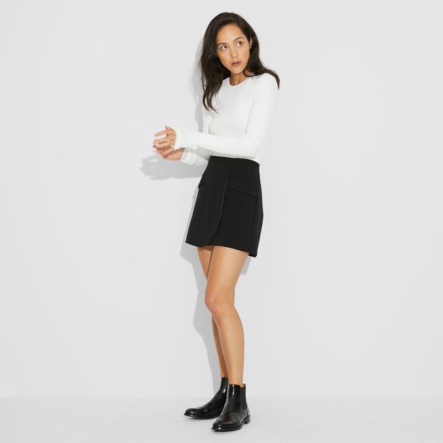 Monroe Ponte Mini Skirt