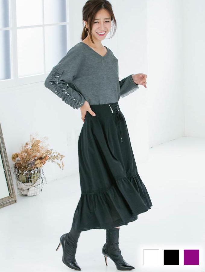 綿シルクスカート