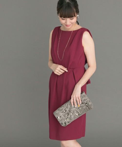 バックカシュクールデザインドレス