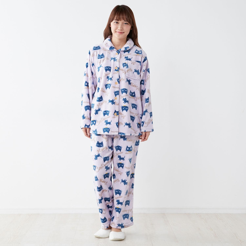 レディース長袖パジャマ(ねこ柄)