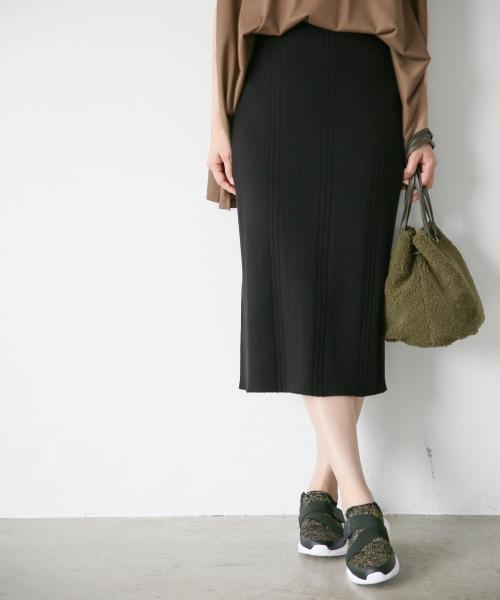 Iラインランダムリブスカート