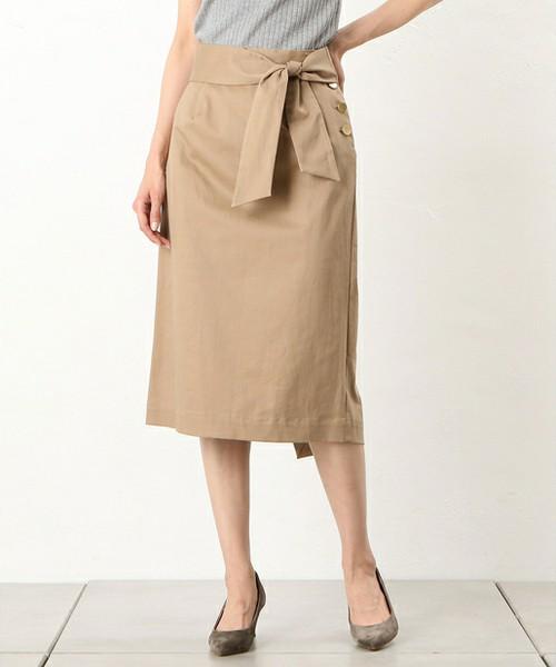 ラップ風リボンタイトスカート