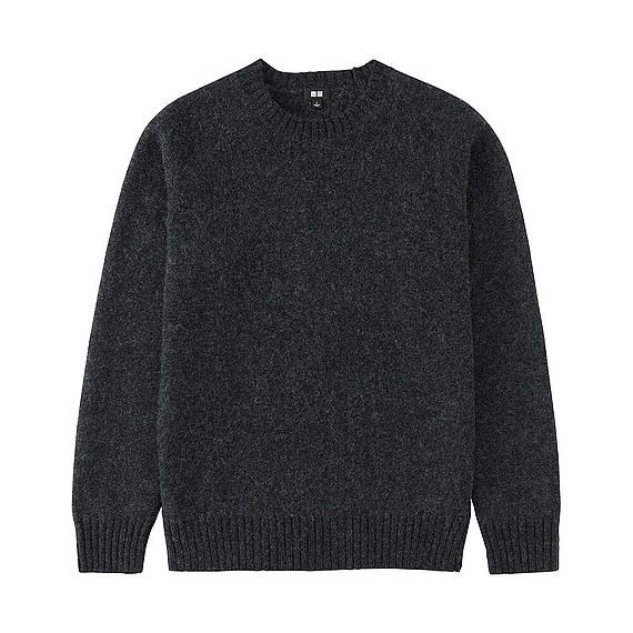 ボイルドウールクルーネックセーター