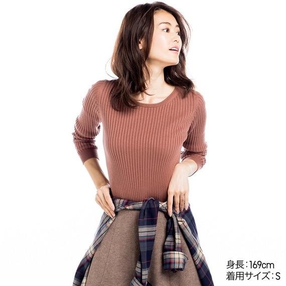 コットンカシミヤリブセーター(長袖)