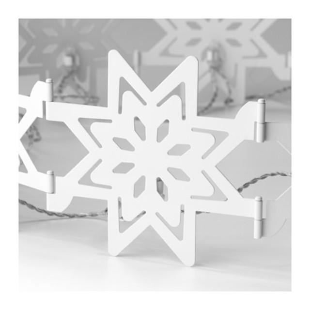 STRÅLA LEDテーブルデコレーション, 雪の結晶, 折りたたみ式