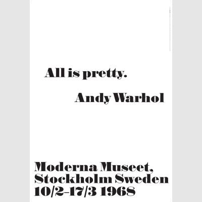 1968 アンディ・ウォーホル展 ポスター All is pretty