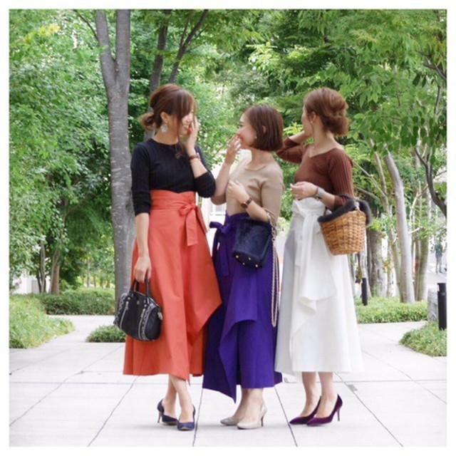 KU-UM×R.Y.C ラップリボンスカート