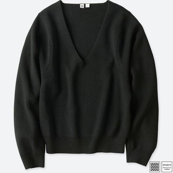 メリノブレンドVネックセーター(長袖)+E