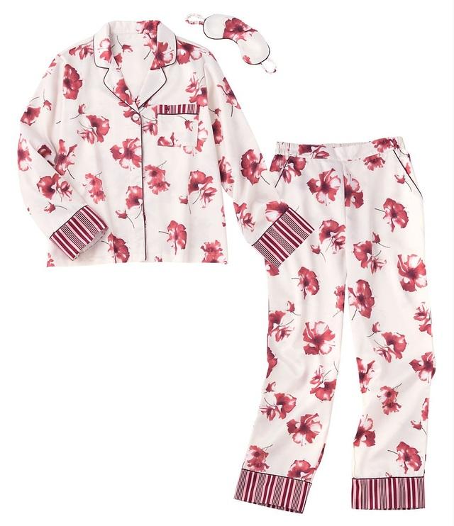 ウォームサテンシャツパジャマセット