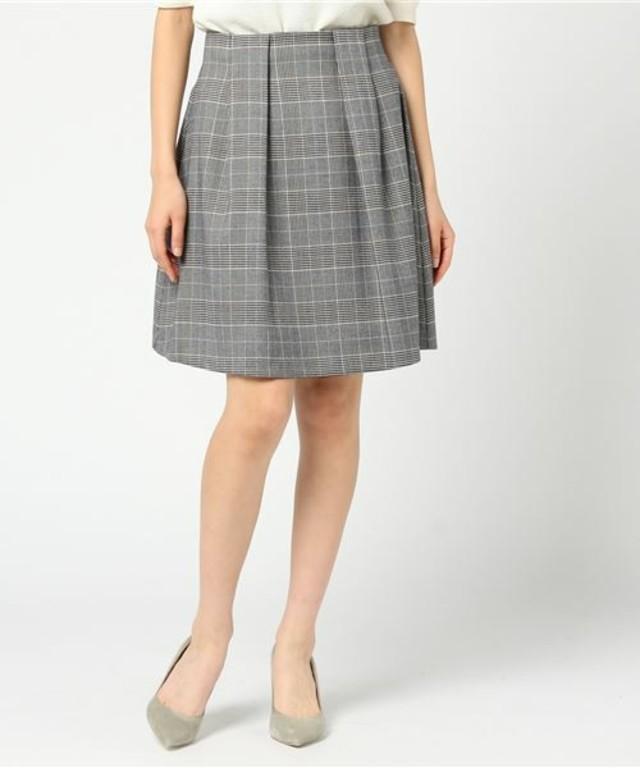 ハイウエストグレンチェック柄スカート