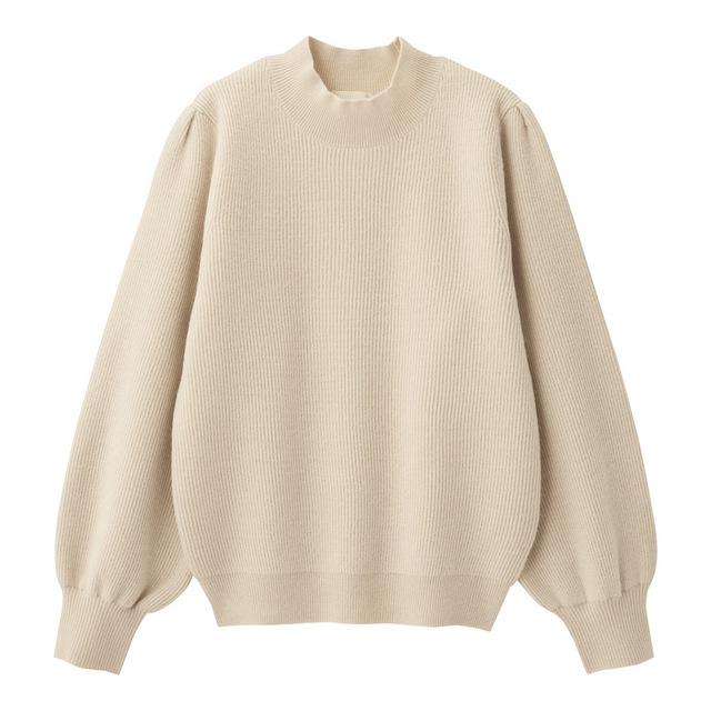 ハイネックパフスリーブセーター(長袖)
