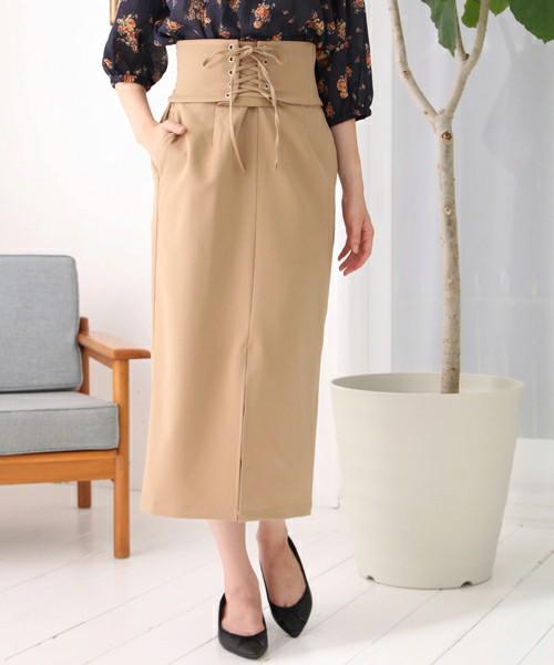 SET2点 コルセットベルト+スカート