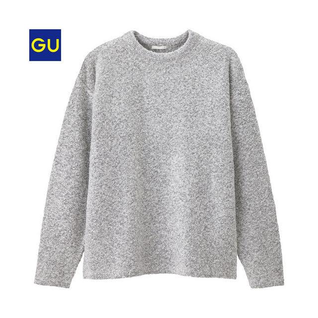 ブークレクルーネックセーター