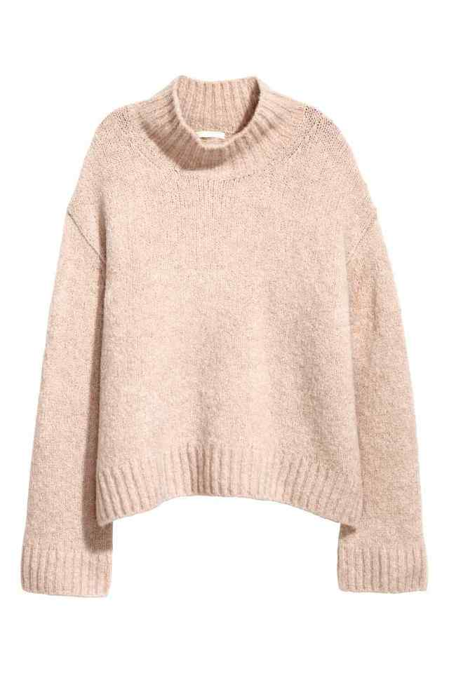 ウールブレンドセーター