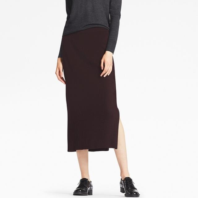 メリノブレンドリブスカート