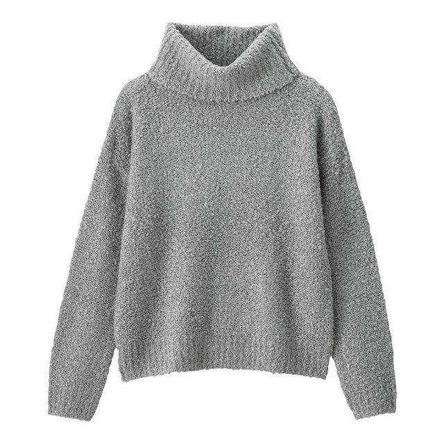 ブークレタートルネックセーター(長袖)
