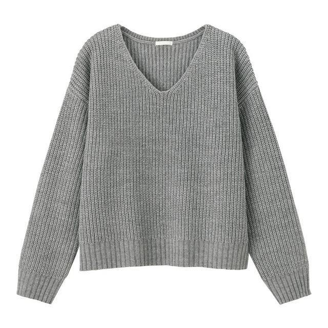 ラメVネックセーター(長袖)