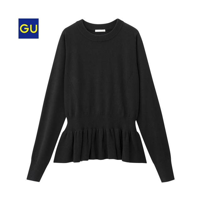 ペプラムセーター(長袖)
