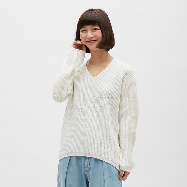 Vネックセーター(長袖)
