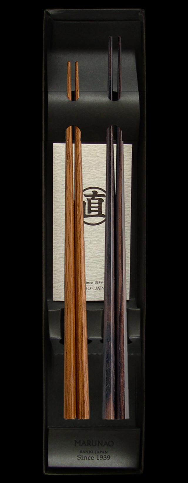 夫婦箸セット 上 八角箸 黒檀・鉄木