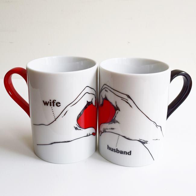 Make Heart Mug Set