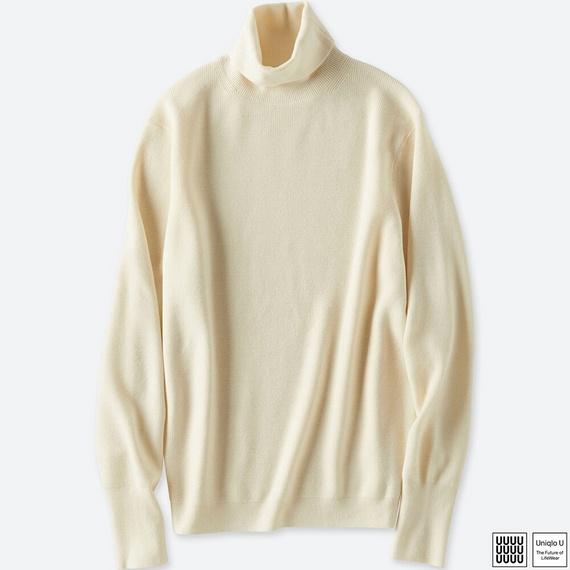 メリノブレンドタートルネックセーター