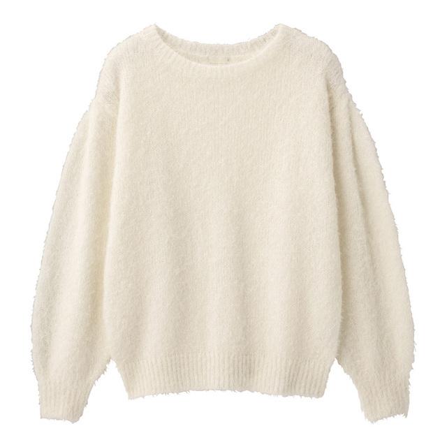 フェザーヤーンセーター