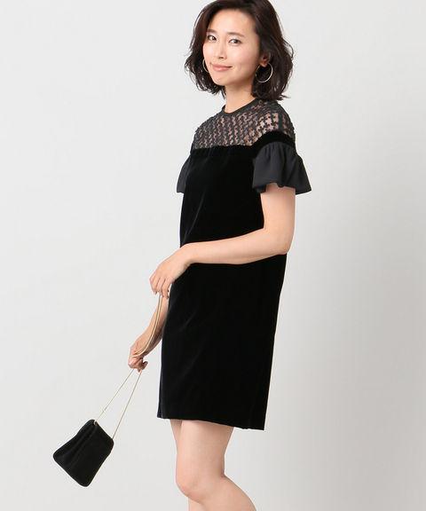 ROOM NO.8 BLACK VELVET DRESS