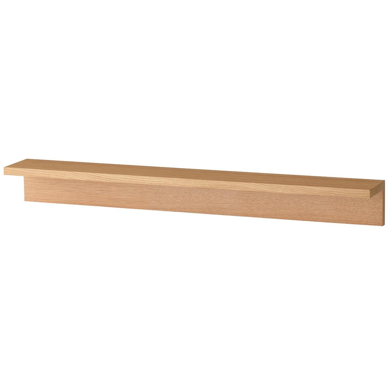 壁に付けられる家具・棚・幅88cm・オーク材 幅88×奥行12×高さ10cm