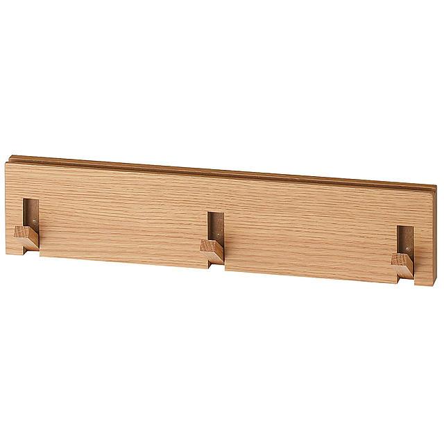 壁に付けられる家具・3連ハンガー・オーク材