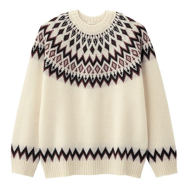 ノルディッククルーネックセーター(長袖)
