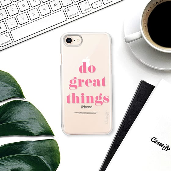Do Great Things Motivational Quote Pink Case