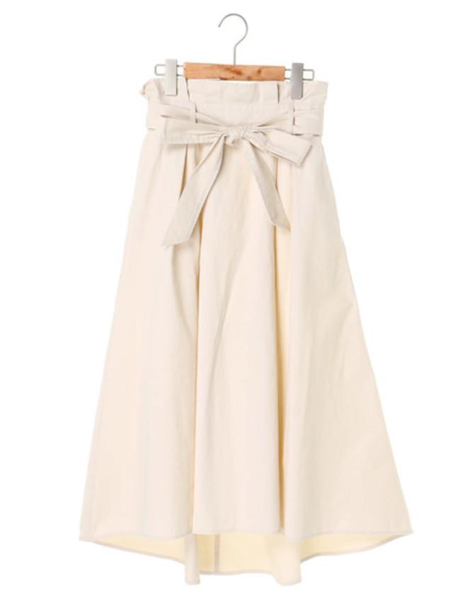 リボン付きイレヘムスカート