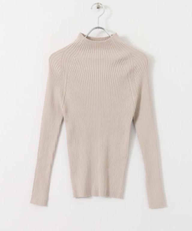 ソデスリットハイネックセーター