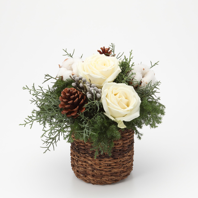 ネット限定 クリスマスのアレンジ・M 白