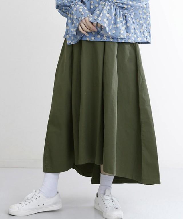 テールカットマキシスカート