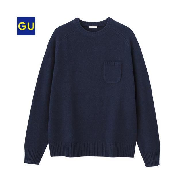 ラムブレンドクルーネックセーター