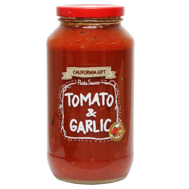 カリフォルニアギフト パスタソース トマト&ガーリック 708g