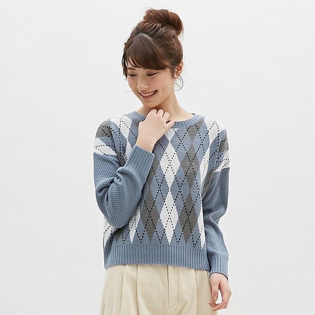 アーガイルセーター(長袖)