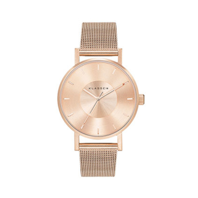 VOLARE ROSE GOLD WITH MESH BAND 36MM
