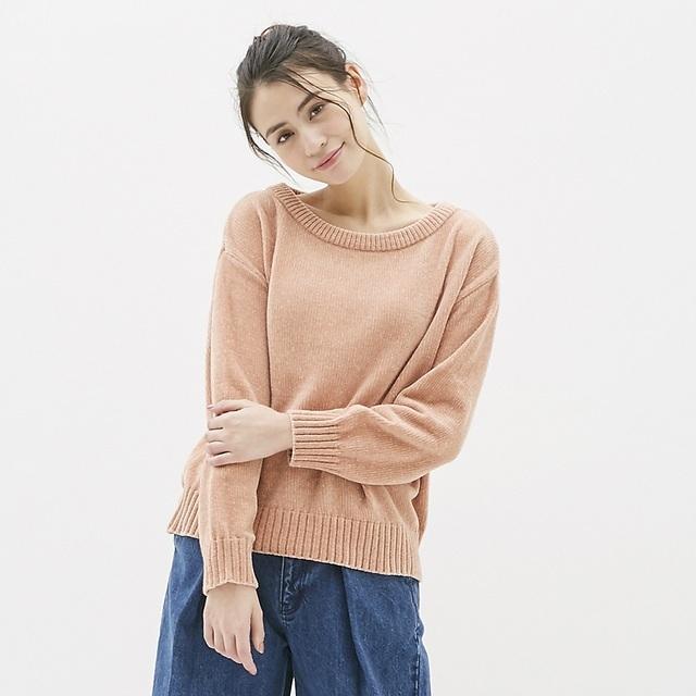 モールヤーンボートネックセーター(長袖)