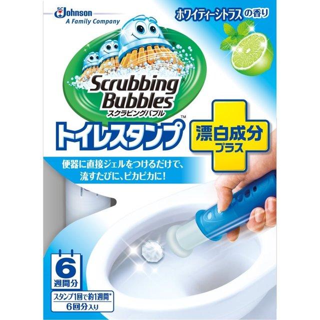 スクラビングバブル トイレ洗浄剤 トイレスタンプ 漂白成分プラス ホワイティーシトラスの香り