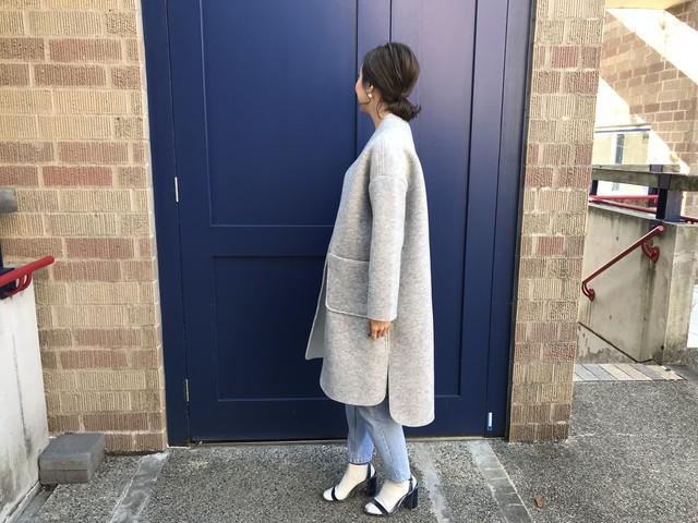 bonding slit coat (裏起毛)