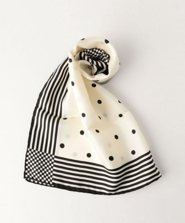 シルク ドット スカーフ